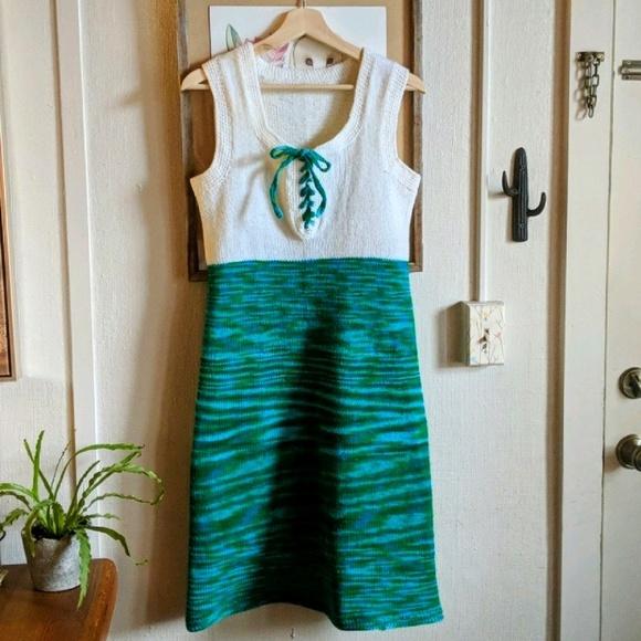 Vintage Dresses & Skirts - Vintage 70's space dyed sweater dress